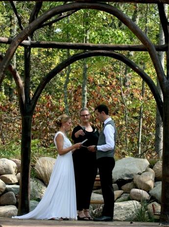 Photo credit goes to the two wonderful people getting married here. Molly did such a fantastic job officiating.