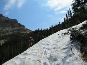 Jen finding a 'snow hazard'