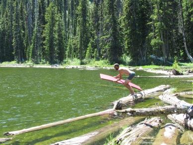 Gotta jump fast, before the log rolls.
