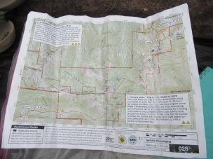 Map of the bushwack - closeups below.