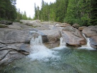 Natural water slide.