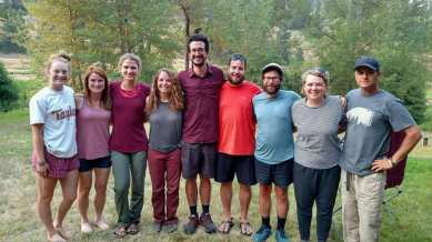 The McRay's and some of the westbounders. Photo credit to Artie!