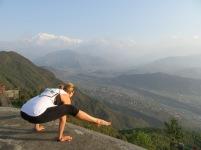 A strong yoga classmate.